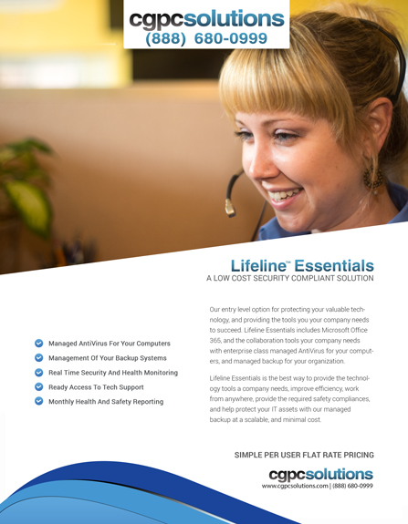 Lifeline Essentials by CGPC Solutions is an affordable, and scalable IT management solution